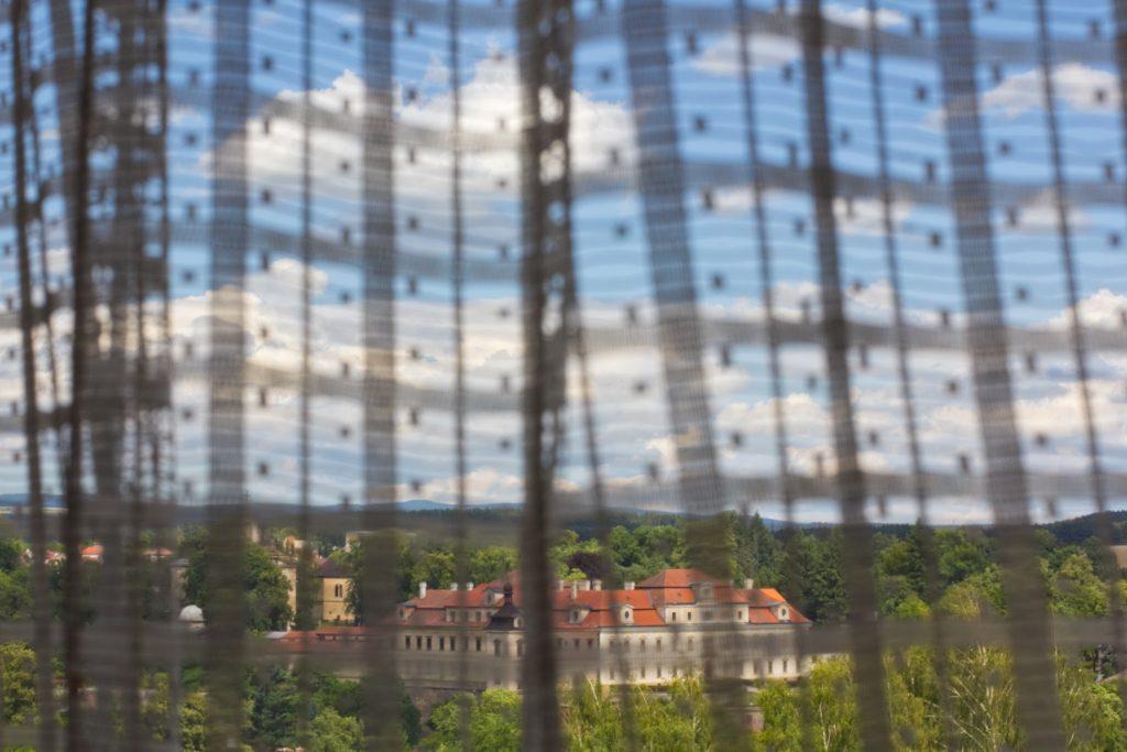 Výhled na Rychnovský zámek z Penzionu Červinková